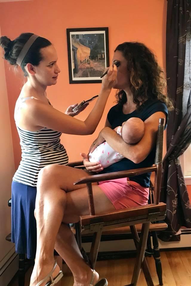 Makeup artist empowered by women